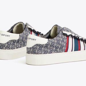 Tory Sport Ruffle Slip-On Sneakers